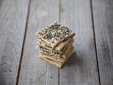 Seeded Crackers Stack